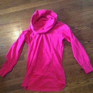 Columbia Pink Fleece Cowl Neck